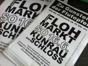 Plakate zum Flohmarkt